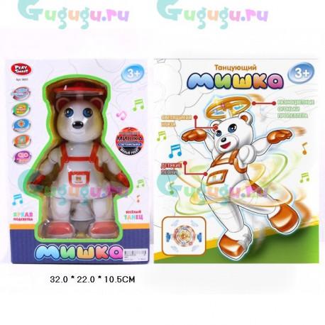 Детская интерактивная игрушка Танцующий Мишка. Медведь танцует и поет песенки