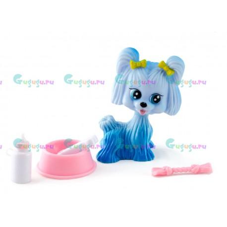 Детская игрушка, собачка Чача - мой любимый питомец с миской, косточкой и соской
