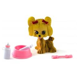 Собачка Джелли - мой любимый питомец с миской, косточкой и соской