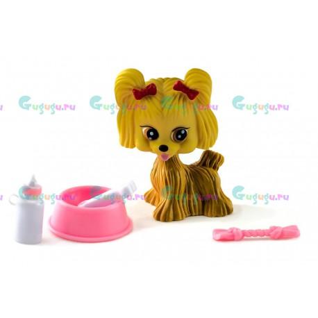Детская игрушка, собачка Джелли - мой любимый питомец с миской, косточкой и соской