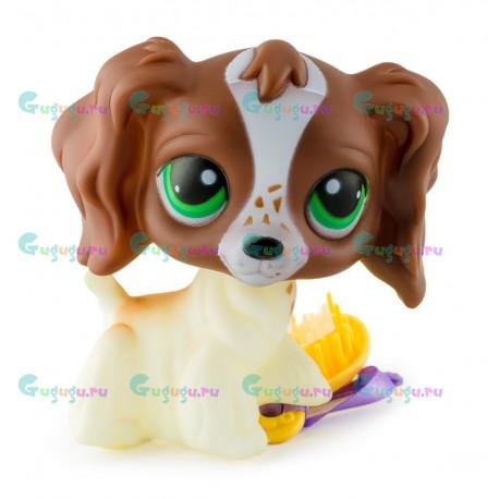 Детская игрушка LPS, Фигурка собачки Спаниельки - моя любимая зверюшка с расческой