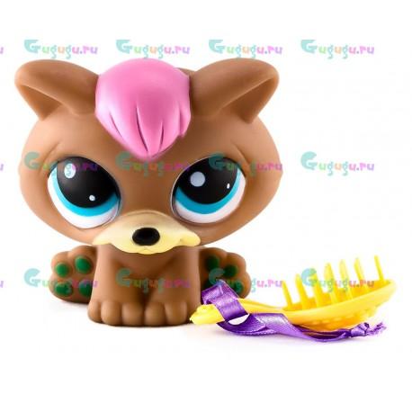 Детская игрушка LPS, Фигурка кошки Кисы - моя любимая зверюшка с расческой