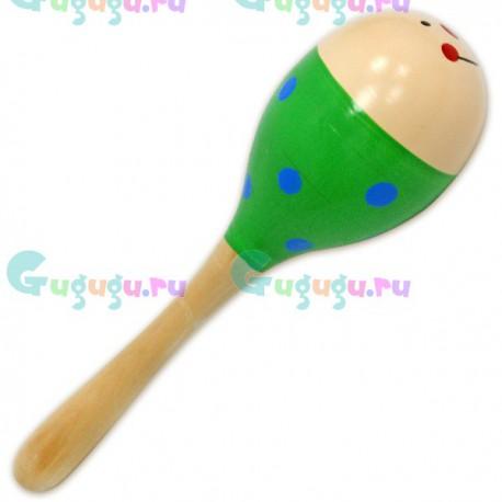 Детская деревянная гипоаллергенная игрушка Маракас