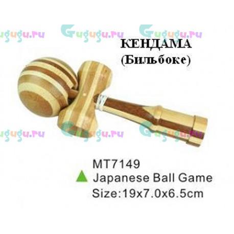 Развивающая активная японская игра Кендама (Бильбоке) из бамбука