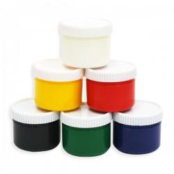 Пальчиковые краски 6 цветов (80 мл / баллончик)
