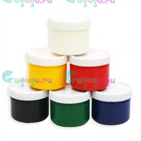 Детские пальчиковые краски 6 цветов (80 мл / баллончик)