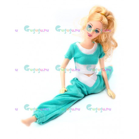 Кукла шарнирная Yoga Girls с аксессуарами: костюм, расческа, сумочка. Высота 29 см