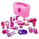 Детский игровой набор парикмахера из 19 предметов в пластиковом чемоданчике