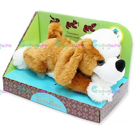 Интерактивная мягкая игрушка собака-робот Кнопа