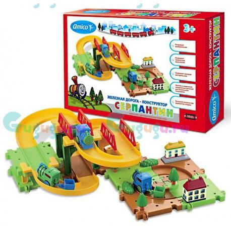Детская игрушка железная дорога конструктор Серпантин: Провинциальный городок