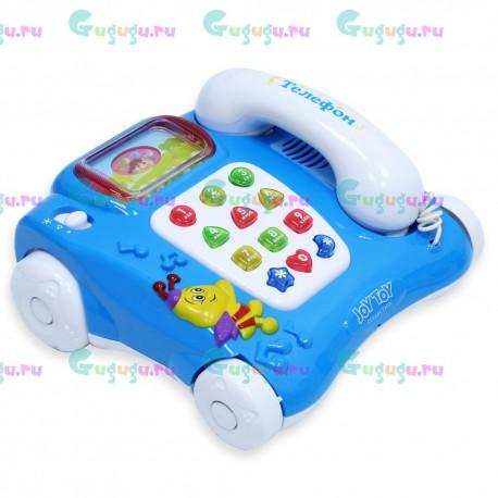 Интерактивная яркая развивающая игрушка Умный телефон. Обучает малыша буквам, цифрам и фигурам. Доставка по всей России.