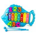 Музыкальная игрушка Металлофон Рыбка Голубая