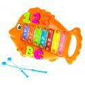 Музыкальная игрушка Металлофон Рыбка Оранжевая