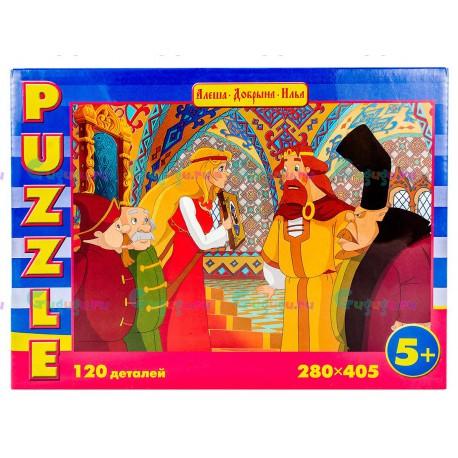 Игра настольная, пазл Русские сказки Алёнушка и Бояре (120 деталей). Купить игрушки с доставкой по всей России