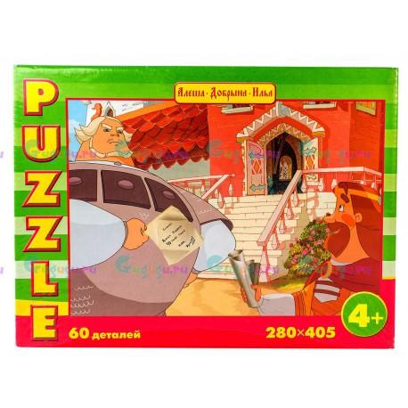 Игра настольная Пазл Русские сказки Добрыня Никитич и Князь (120 деталей). Купить игрушки с доставкой по всей России