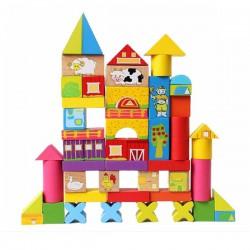 Деревянная игрушка Лесная сказка конструктор Ферма (52 детали)