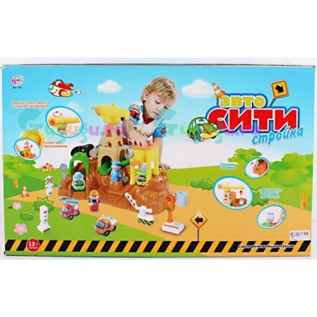 Детский развивающий конструктор-парковка Гараж Автосити стройка с большими блоками. Купить игрушку с доставкой по России