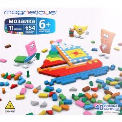 Детская яркая развивающая магнитная мозаика конструктор MAGNETICUS (654 элемента). Купить конструктор с доставкой по России