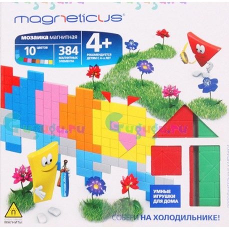 Детский магнитный конструктор MAGNETICUS: Гусеница (384 элемента, 10 цветов). Купить конструктор с доставкой по России
