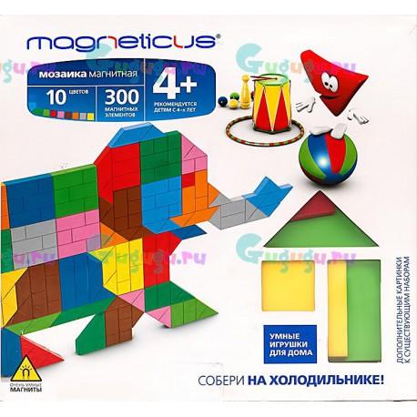 Детский магнитный конструктор MAGNETICUS: Цирк (300 элементов, 10 цветов). Купить конструктор с доставкой по России