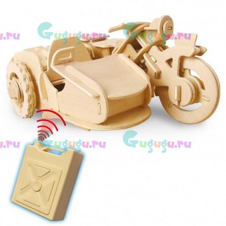 Деревянный интерактивный конструктор GOOD HAND Мотоцикл с мотором на радиоуправлении. Купить конструктор с доставкой по России