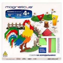 Магнитная мозаика конструктор MAGNETICUS: Ферма (316 элемента, 10 цветов). Купить конструктор с доставкой по России