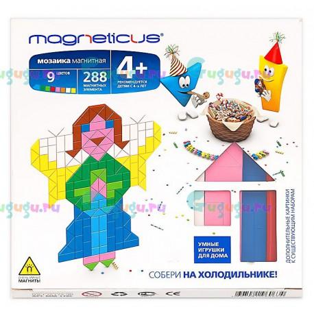 Магнитная мозаика конструктор MAGNETICUS: Ангелы (288 элементов, 9 цветов). Купить конструктор с доставкой по России