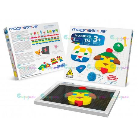Магнитная мозаика конструктор MAGNETICUS: 30 этюдов (174 элемента, 6 цветов). Купить конструктор с доставкой по России