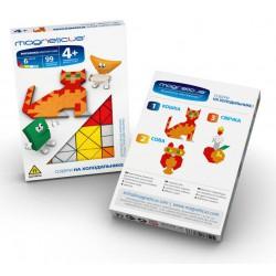 Мозаика магнитная MAGNETICUS MINI: Кошка (99 элемента, 6 цветов)
