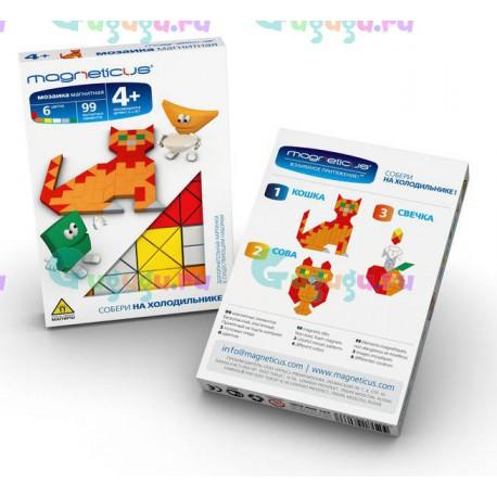 Магнитная мозаика конструктор MAGNETICUS MINI: Кошка (99 элемента, 6 цветов)