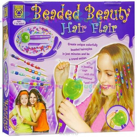 Развивающий набор для девочек от CREATIVE: Красивые прически из бисера. Купить набор набор с доставкой по России