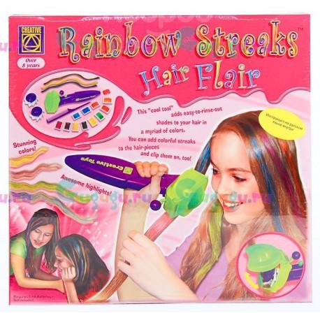 Развивающий набор для девочек от CREATIVE: Радуга в твоих волосах. Купить набор набор с доставкой по России