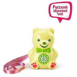 Мишка Тимофей интерактивный (желтый цвет, знает 241 сказку / 60 часов на русском, разговаривает, поет, обучает английскому)