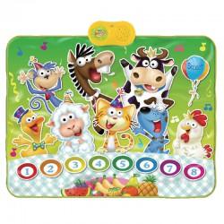 Детский музыкальный коврик Вечеринка зверей для активного отдыха