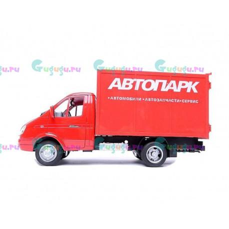 Детская игрушка копия машины фургона Автопарк красного цвета. Купить машинку с доставкой по России