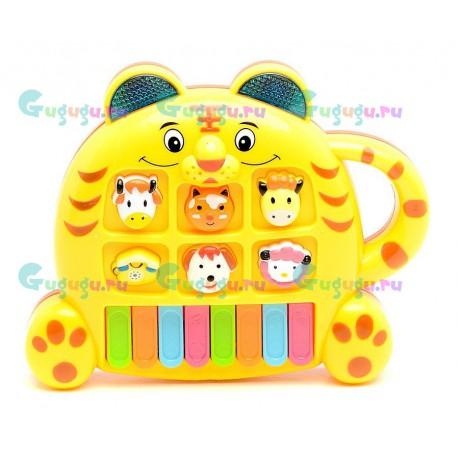 Интерактивное детское пианино Веселый котик - поет голосами разных животных. Купить пианино с доставкой по России