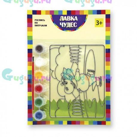 Детское творчество: Набор для росписи витража - Бегемотик. Купить развивающие игрушки с доставкой по России