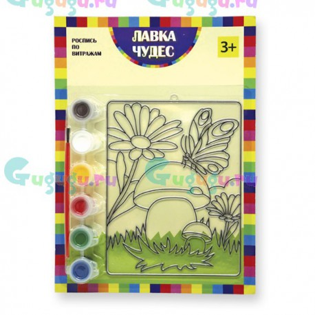 Детское творчество: Набор для росписи витража - Лесная поляна. Купить развивающие игрушки с доставкой по России