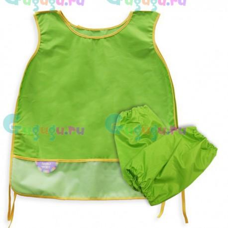 Фартук для детского творчества с нарукавниками из нейлона. Купить детский фартук с доставкой по всей России.