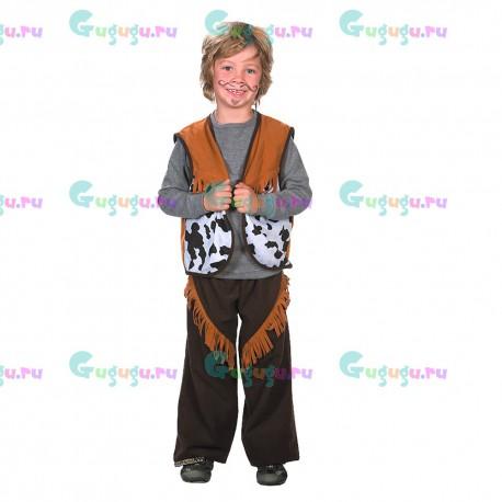 Детский карнавальный костюм Ковбой Дикого Запада для праздников от 4- 6 лет (104-106 см). Доставка по всей России