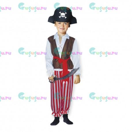 Детский карнавальный костюм Пират - гроза морей для детских праздников. Доставка по всей России