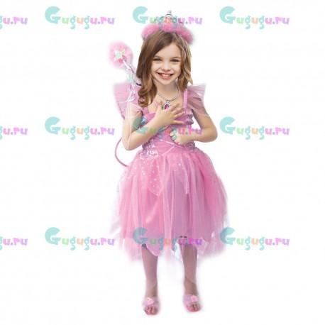 Детский карнавальный костюм для девочек Розовая фея для праздников. Доставка по всей России