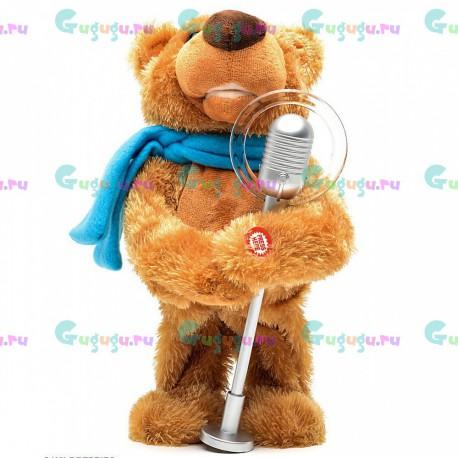 Интерактивный плюшевый мишка Артист (танцует, повторяет, рассказывает сказки, поёт, распознает голос и отвечает)