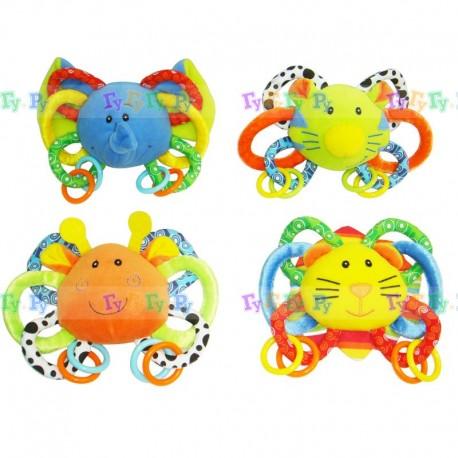 Развивающая игрушка-погремушка Веселые зверята