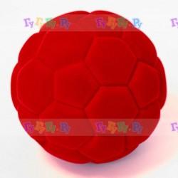 Мяч из натурального каучука с флокированным покрытием Футбол, 10 см