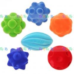 Мячики из натурального каучука покрытого флоком