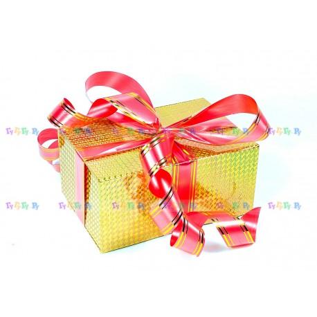 Подарочная коробка-трансформер: Золотая голограмма (19х9х13 см)
