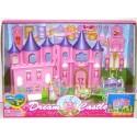 """Детский игровой набор """"Розовый замок"""". В наборе: принцесса, карета с лошадьми и мебель"""