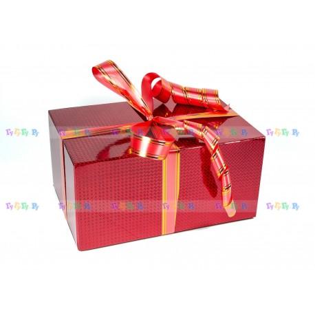 Подарочная коробка-трансформер: Красная голограмма (47x27x18 см)