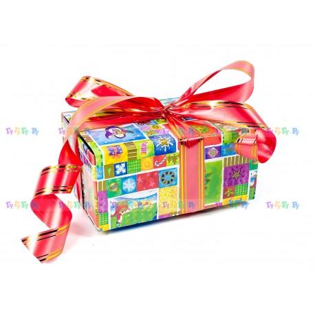Подарочная коробка-трансформер: Новогодние картинки (19х9х13 см)